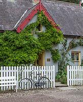 County Clare, Ireland<br /> Bunratty Folk Park, village street scene