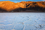 A photo of the salt flats in Death Valley CA.