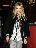 "Fergie leaving the most expensive restaurant "" Le Stresa "" in Paris - France"