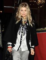 "Fergie leaving the most expensive restaurant "" Le Stresa "" in Paris - France"