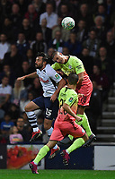 Preston North End's Joe Rafferty battles with Manchester City's Taylor Harwood-Bellis<br /> <br /> Photographer Dave Howarth/CameraSport<br /> <br /> The Carabao Cup Third Round - Preston North End v Manchester City - Tuesday 24th September 2019 - Deepdale Stadium - Preston<br />  <br /> World Copyright © 2019 CameraSport. All rights reserved. 43 Linden Ave. Countesthorpe. Leicester. England. LE8 5PG - Tel: +44 (0) 116 277 4147 - admin@camerasport.com - www.camerasport.com
