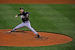 30 March 2008: Atlanta Braves' pitcher Tim Hudson on the mound against the Washington Nationals at Nationals Park in Washington, DC. The Nationals christened their  new ballpark with a win over the visiting Braves 3-2 in the inaugural game of the state-of-the-art sports facility...Mandatory Photo Credit: Ed Wolfstein Photo