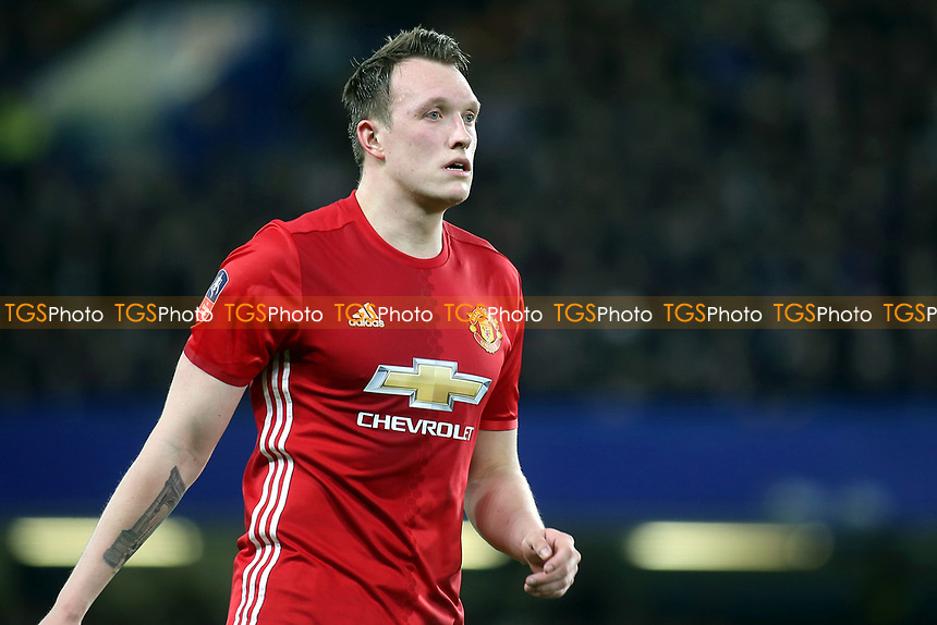 Phil Jones of Manchester United during Chelsea vs Manchester United, Emirates FA Cup Football at Stamford Bridge on 13th March 2017