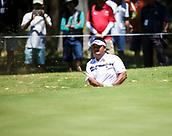 10th February 2018, Lake Karrinyup Country Club, Karrinyup, Australia; ISPS HANDA World Super 6 Perth golf, third round; Prom Meesawat (THA) in the bunker