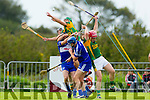 Jordan Brick, Sean Maunsell Kilmoyley in action against Rory Horgan and Eamon Corridon  Saint Brendan's in the County Senior Hurling Final at Abbeydorney on Sunday.