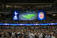 The supporters await kick off during the UEFA Champions League Group stage match between Tottenham Hotspur and Monaco at White Hart Lane, London, England on 14 September 2016. Photo by Andy Rowland.