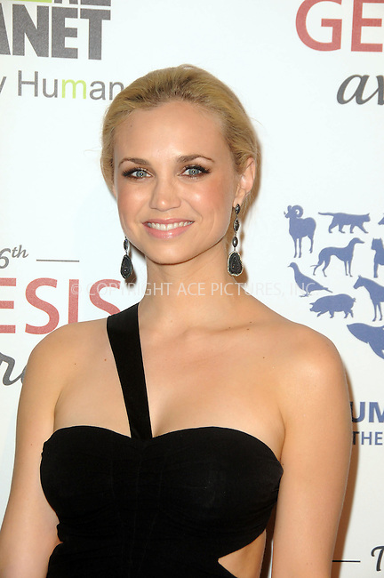 WWW.ACEPIXS.COM . . . . .  ....March 24 2012, LA....Fiona Gubelmann arriving at the 26th Annual Genesis Awards at The Beverly Hilton Hotel on March 24, 2012 in Beverly Hills, California. ....Please byline: PETER WEST - ACE PICTURES.... *** ***..Ace Pictures, Inc:  ..Philip Vaughan (212) 243-8787 or (646) 769 0430..e-mail: info@acepixs.com..web: http://www.acepixs.com