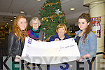Two Tralee students who organised a fashion event raised €2,320 for the Irish Cancer Society. From l-r were: Aislinn Dowling, Chris Griffin, Ann O'Connor and Kelly O'Connell.