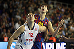 Nenad Krstic vs Ante Tomic. FC Barcelona Regal vs CSKA Moscow: 75-78