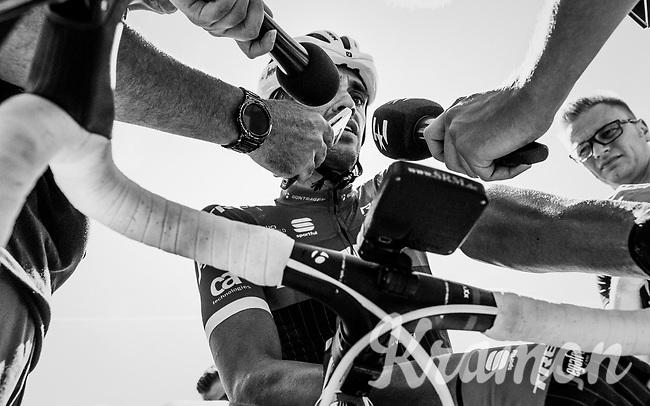Alberto Contador (ESP/Trek-Segafredo) interviewed post-finish <br /> <br /> 69th Crit&eacute;rium du Dauphin&eacute; 2017<br /> Stage 8: Albertville &gt; Plateau de Solaison (115km)