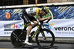 Australian Champion Luke Durbridge (AUS) Mitchelton-Scott recons the course before Stage 21 the final stage of the 2019 Giro d'Italia, an individual time trial running 17km from Verona to Verona, Italy. 2nd June 2019<br /> Picture: Fabio Ferrari/LaPresse | Cyclefile<br /> <br /> All photos usage must carry mandatory copyright credit (© Cyclefile | Fabio Ferrari/LaPresse)