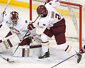 Joe Woll (BC - 31), Scott Savage (BC - 2) - The Boston College Eagles defeated the visiting UConn Huskies 2-1 on Tuesday, January 24, 2017, at Kelley Rink in Conte Forum in Chestnut Hill, Massachusetts.