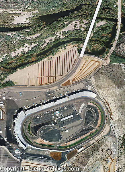 aerial photo map of  Phoenix International Raceway, Phoenix, Arizona
