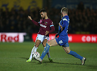 West Ham United's Ryan Fredericks<br /> <br /> Photographer Rob Newell/CameraSport<br /> <br /> Emirates FA Cup Fourth Round - AFC Wimbledon v West Ham United - Saturday 26th January 2019 - Kingsmeadow Stadium - London<br />  <br /> World Copyright © 2019 CameraSport. All rights reserved. 43 Linden Ave. Countesthorpe. Leicester. England. LE8 5PG - Tel: +44 (0) 116 277 4147 - admin@camerasport.com - www.camerasport.com