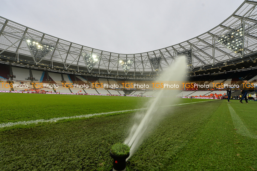 Water jets during West Ham United vs Arsenal, Premier League Football at The London Stadium on 12th January 2019