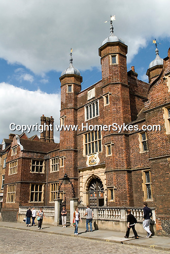 George Abbot Hospital Almshouse built by George Abbot. Guildford High Street  Surrey UK.