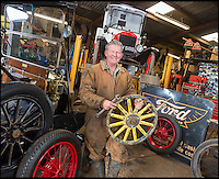 BNPS.co.uk (01202 558833)<br /> Pic: PhilYeomans/BNPS<br /> <br /> Wooden wheels.<br /> <br /> Garage that time forgot...<br /> <br /> Business is booming at Neil Tuckets time warp garage in the heart of Buckinghamshire - Where you can by any car&hellip;as long as its a Model T Ford.<br /> <br /> Despite his newest models being nearly 90 years old, Neil struggles to keep up with demand with customers snapping up one a week, despite their rudimentary levels of comfort and trim.<br /> <br /> Neil sources his spares from all over the globe and carefully puts the machines back together again.<br /> <br /> 'There like a giant meccano set really, and so beautifully simple and reliable they just won't let you down...You also don't require road tax or and MOT!'