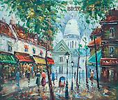 Alfredo, LANDSCAPES, LANDSCHAFTEN, PAISAJES,Sacré-Cœur de Montmartre, paintings+++++,BRTOLP14663,#L#