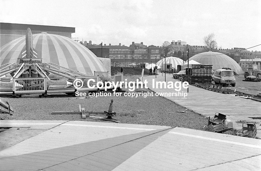 Ulster 71 Exhibition, site works, preparation, permanent play centre, 197104260198e<br /> <br /> Copyright Image from Victor Patterson, 54 Dorchester Park, Belfast, UK, BT9 6RJ<br /> <br /> t1: +44 28 9066 1296 (from Rep of Ireland 048 9066 1296)<br /> t2: +44 28 9002 2446 (from Rep of Ireland 048 9002 2446)<br /> m: +44 7802 353836<br /> <br /> e1: victorpatterson@me.com<br /> e2: victorpatterson@gmail.com<br /> <br /> The use of my copyright images is subject to my Terms &amp; Conditions.<br /> <br /> It is IMPORTANT that you familiarise yourself with them. They are available on my website at www.victorpatterson.com.<br /> <br /> None of my copyright images may be used on a website unless they are visibly watermarked, i.e. &copy; Victor Patterson within the body of the visible image. Metadata denoting my copyright must NOT be deleted. <br /> <br /> Web use is extra at currently recommended NUJ rates.