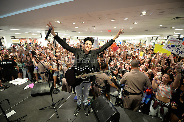 AVENTURA FL - MARCH 20: Daniel Skye performs in front of his hometown fans at Macy's on March 20, 2016 in Aventura, Florida. Credit: mpi04/MediaPunch
