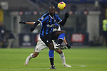 Romelu Lukaku of Inter controls the ball with Jose Palomino of Atalanta close behind during the Serie A match at Giuseppe Meazza, Milan. Picture date: 11th January 2020. Picture credit should read: Jonathan Moscrop/Sportimage