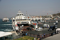 Car ferry loading at Sirkeci, Istanbul, Turkey
