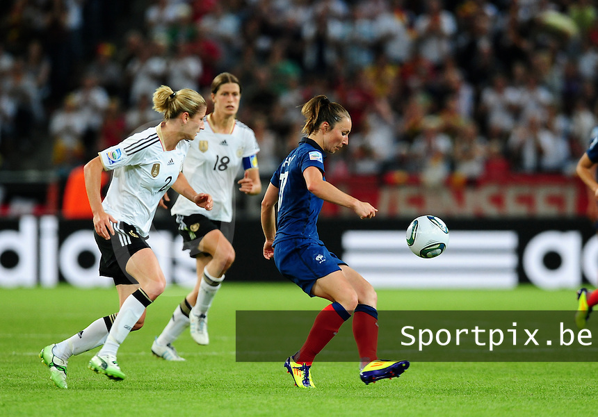Fifa Women's World Cup Germany 2011 : France - Germany ( Frankrijk - Duitsland ) at Munchengladbach World Cup stadium : Gaetane THINEY.foto DAVID CATRY / Vrouwenteam.be