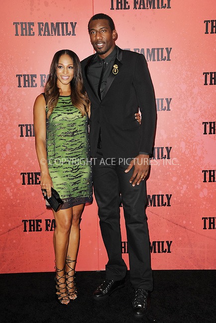 WWW.ACEPIXS.COM<br /> September 10, 2013 New York City<br /> <br /> Alexis Welch and Amar'e Stoudemire attending the World Premiere of &quot;The Family&quot; in New York City on September 10, 2013. <br /> By Line: Kristin Callahan/ACE Pictures<br /> <br /> ACE Pictures, Inc.<br /> tel: 646 769 0430<br /> Email: info@acepixs.com<br /> www.acepixs.com<br /> Copyright:<br /> Kristin Callahan/ACE Pictures