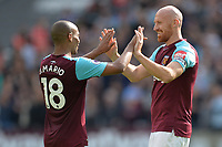 João Mario of West Ham and James Collins of West Ham during West Ham United vs Everton, Premier League Football at The London Stadium on 13th May 2018