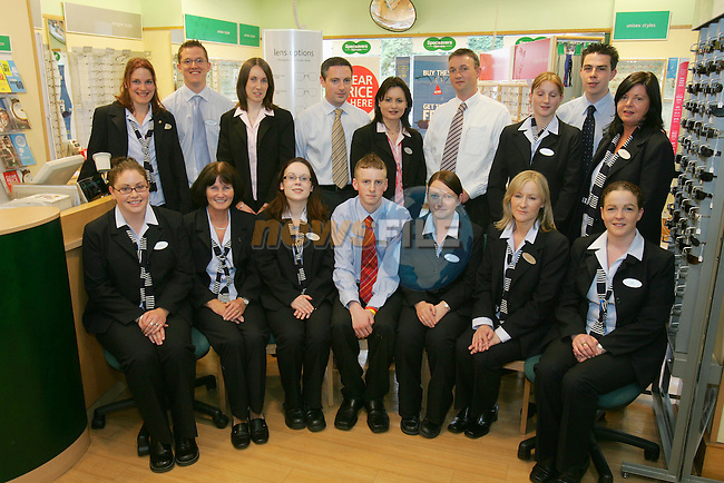 Specsavers Drogheda Staff.June Dilley, Cian MacKenna, Kerril Hickey, Ann McEntee, David McCloskey, Dearbla Clarke, Aaron Reay and Deirdre Brown. Front (L to R) Joanne Finnegan, Myra Williams, Una Maguire, Paul Dunne, Michelle Dowling, Cllr. Imelda Munster-Curran and Alison Gough...Photo NEWSFILE/FRAN CAFFREY..(Photo credit should read FRAN CAFFREY/NEWSFILE)...This Picture has been sent you under the condtions enclosed by:.Newsfile Ltd..the Studio,.Millmount Abbey,.Drogheda,.Co Meath..Ireland..Tel: +353(0)41-9871240.Fax: +353(0)41-9871260.GSM: +353(0)86-2500958.email: pictures@newsfile.ie.www.newsfile.ie.FTP: 193.120.102.198..This picture is from Fran Caffrey@newsfile.ie