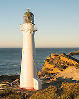 Sunrise over Castlepoint Lighthouse, Hawke's Bay, North Island, New Zealand, NZ