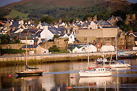 Earlly morning light on Conway harbor, North Wales