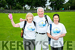 l-r Suzanne Boyle, John Ahern and Jacinta Bradley at the Jamie Wrenn Walk to Castlegregory in aid of Recovery Haven on Saturday