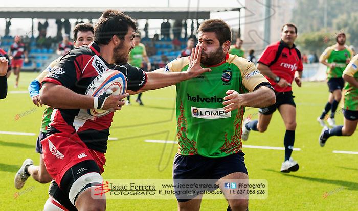 Rugby - Division de Honor B.<br /> CAU Valencia (69)vs(3) Helvetia Sevilla.<br /> Cuatre Carreres (Valencia-España).<br /> 17 de febrero de 2013.