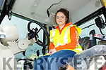Bridget Rogers from Tralee, sitting on a tractor doing a tractor/farm safety course on Safe Tractor Skills for 14 to 16 year olds at the Tralee Mart on Thursday.