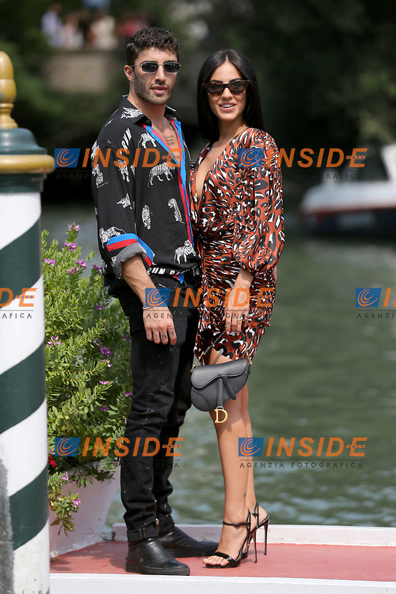 VENICE, ITALY - AUGUST 31:  Andrea Iannone and Giulia De Lellis arrive in Darsena Excelsior during the 76th Venice Film Festival  on August 31, 2019 in Venice, Italy. (Photo by Marck Cape/Inside Foto)<br /> Venezia 31/08/2019