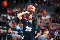 VALENCIA, SPAIN - OCTOBER 18: Sergi Vidal during ENDESA LEAGUE match between Valencia Basket Club and FIATC Joventut at Fonteta Stadium on October 18, 2015 in Valencia, Spain
