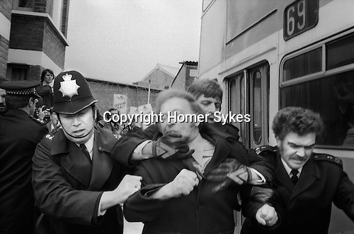 Arthur Scargill resisting arrest Grunwick Strike North London UK
