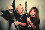 Slayer, Jeff Hanneman, Kerry King, Photo By David Plastik/IconicPix 1988 Los Angeles