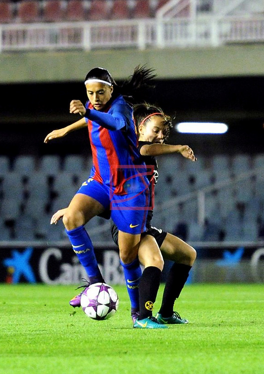 UEFA Women's Champions League 2016/2017.<br /> Round of 16 - First Leg<br /> FC Barcelona vs Twente: 1-0.<br /> Andressa Alves.