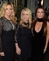 """LOS ANGELES - DEC 2:  Camille Grammer, Kim Richards, Kyle Richards at the """"The Real Housewives of Beverly Hills"""" Season 7 Premiere Party at Sofitel Hotel on December 2, 2016 in Beverly Hills, CA"""