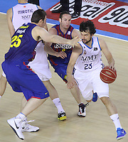 16.06.2013 Barcelona, Spain. Liga Endesa . Playoff game 4 Picture show Sergio Llull in action during game between FC Barcelona against Real Madrid at Palau Blaugrana