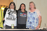 LAS VEGAS, NV - MAY 01: Peggy Lee, Malia Hosaka and Judy Martin at the 53rd Cauliflower Alley Club Reunion Convention at the Gold Coast Hotel & Casino in Las Vegas, Nevada on May 1, 2018. Credit: George Napolitano/MediaPunch