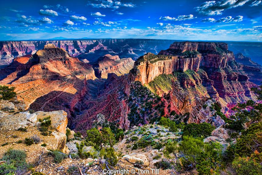 Vishnu Temple and Wotans Throne, Grand Canyon National Park, Arizona, Kaibab Plateau  North Rim, Walhala Plateau,    South Rim Beyond, Colorado River