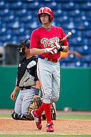 Philadelphia Phillies shortstop Tyler Greene #6 during an Instructional League game against the Toronto Blue Jays at Brighthouse Field on October 7, 2011 in Clearwater, Florida.  (Mike Janes/Four Seam Images)