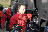 20200304  Parchal , Portugal : Belgian Davinia Vanmechelen pictured getting out of the bus before the female football game between the national teams of New Zealand , known as the Football Ferns and Belgium called the Red Flames on the first matchday of the Algarve Cup 2020 , a prestigious friendly womensoccer tournament in Portugal , on wednesday 4 th March 2020 in Parchal , Portugal . PHOTO SPORTPIX.BE | DAVID CATRY