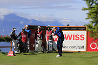 Benjamin Hebert (FRA) tees off the 2nd tee during Thursday's Round 1 of the 2017 Omega European Masters held at Golf Club Crans-Sur-Sierre, Crans Montana, Switzerland. 7th September 2017.<br /> Picture: Eoin Clarke | Golffile<br /> <br /> <br /> All photos usage must carry mandatory copyright credit (&copy; Golffile | Eoin Clarke)