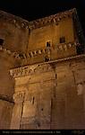 Vestibule exterior facing at night Pantheon Campus Martius Rome