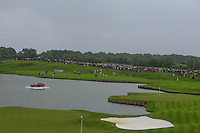 A view of the 15th fairway and green across the 18th green during Round 2 of the 100th Open de France, played at Le Golf National, Guyancourt, Paris, France. 01/07/2016. <br /> Picture: Thos Caffrey | Golffile<br /> <br /> All photos usage must carry mandatory copyright credit (&copy; Golffile | Thos Caffrey)
