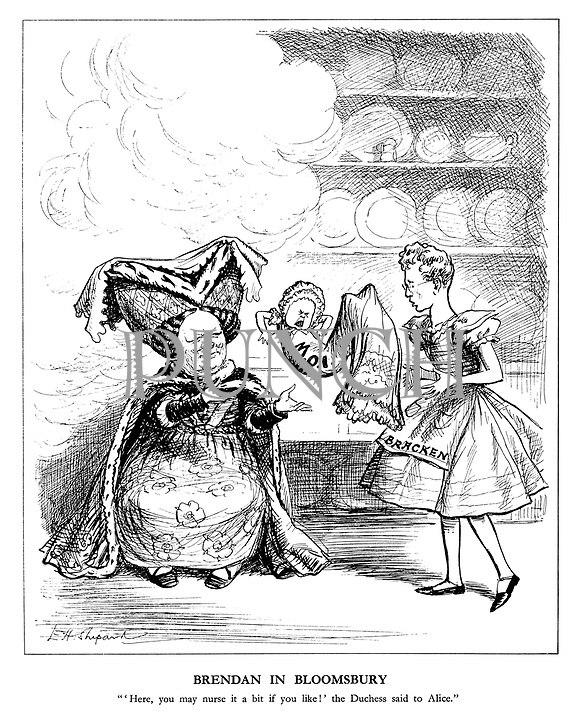"""Brendan in Bloomsbury. """"'Here, you may nurse it a bit if you like!' the Duchess said to Alice."""""""